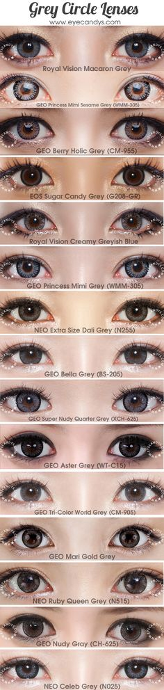 Nonprescription gray colored contact lenses. From the most trusted brands like Bausch & Lomb, CIBA Vision, FreshLook, GEO, NEO Vision. FREE Shipping Worldwide! SHOP >> http://www.eyecandys.com/grey