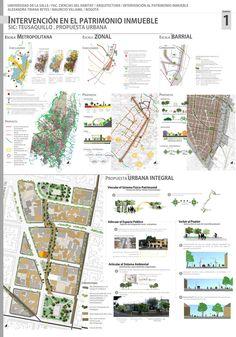 Intervención en un edificio patrimonial en el barrio teusaquillo en Bogotá / Intervention in a heritage building in Bogotá Architecture Concept Diagram, Architecture Presentation Board, Architecture Design, Urban Design Concept, Urban Design Plan, Landscape Plane, Urban Intervention, Site Analysis, Concept Board