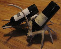 Deer Antler Wine Rack by Deer & Dear on Etsy, $100.00 Made in South Dakota