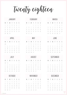 4 Four Year 2018 2019 2020 2021 Calendar Printable