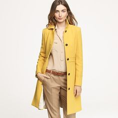 Why yes, I would like a mustard yellow coat for Christmas!