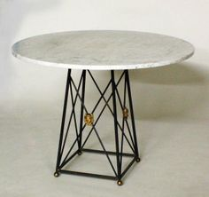 metal & marble breakfast table