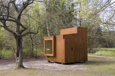 Built by Dorte Mandrup Arkitekter in , Denmark with date 2007. Images by Torben Eskerod. Measuring only 10 m2, Read-Nest is a small pre-manufactured structure that is designed to sit in the landscape like a...