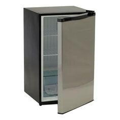 Bull Outdoor Products 11001 Stainless Steel Front Panel Refrigerator ** You can get additional details at the image link. (This is an affiliate link) Outdoor Refrigerator, Compact Refrigerator, Stainless Steel Cabinets, Stainless Steel Refrigerator, Painting Metal Doors, Can Dispenser, Beverage Dispenser, Bull Bbq, Plastic Shelves