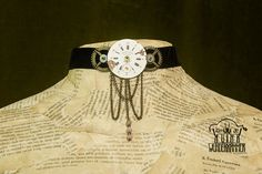 Items similar to Steampunk choker with vintage watch face on Etsy Handmade Jewelry, Unique Jewelry, Handmade Gifts, Watch Faces, Vintage Watches, Header, Gold Watch, Steampunk, Inspired