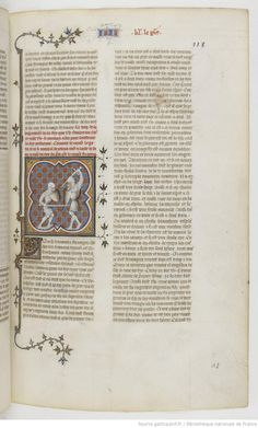 Grandes Chroniques de France Fol 118r, 1375-1380, Henri du Trévou & Raoulet d'Orléans