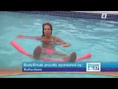 BodyBreak Cayman 27: Aqua Aerobics with Noodles, Cayman Islands - YouTube
