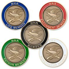 NRA Jumbo Antiqued Member Pin - $5.95