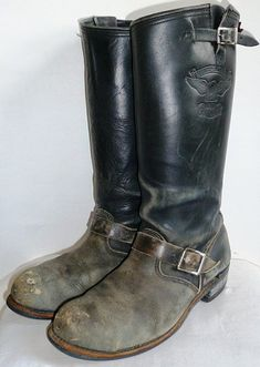 Just Boots Mens High Boots, Mens Shoes Boots, Men's Shoes, Shoe Boots, Tall Leather Boots, Biker Leather, Tall Boots, Leather Jacket, Engineer Boots