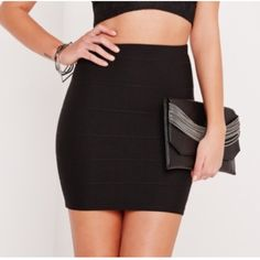 Bandage Skirt Black bandage skirt with zipper in back. So comfortable and cute!! Skirts Mini