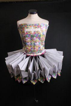 Paper tu tu and corset Paper Fashion, Fashion Art, Crazy Dresses, Paper Dresses, Higher Design, School Fashion, Paper Design, Art World, Dancers