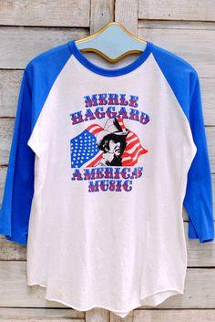 MERLE HAGGARD America's Music Baseball Tee