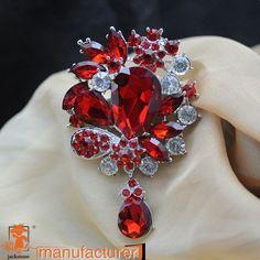 cnjackstraw new fashion crystal big beautiful color red&blue drop glass brooch wedding  jewelry //Price: $23.52 & FREE Shipping //     #hashtag3