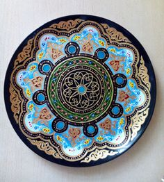Decorative plate in Uzbek style at the wall от Stainedglasss500