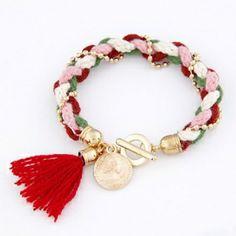 Fashionable OL lady joker beads wool knitting bracelet
