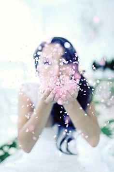blow flower petals