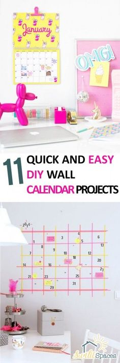11 Quick and Easy DIY Wall Calendar Projects -