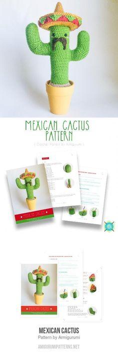 Mexican Cactus Amigurumi Pattern
