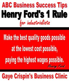 Gaye Crispin's Business Clinic -  Startup Essentials  - Henry Ford's Number 1 Rule