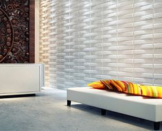 New 3D Board Wall Cladding Tiles - Bladet - Interior Decorative Tile Panels 1m²