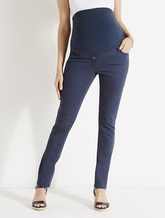"Maternity Slim-cut Trousers - Inside Leg 32"""