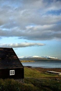 Traditional black Icelandic house with a view!