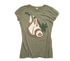 WWF sloth t-shirt to support endangered animals