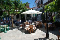 Taverne in Vourliotes Samos, Bar, Patio, Outdoor Decor, Home Decor, Homemade Home Decor, Yard, Terrace, Decoration Home