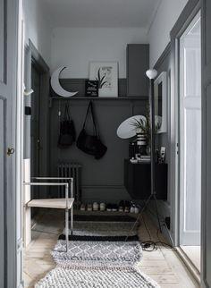 Grey Hallway in Lotta Agaton's Home in Stockholm - Gravity Home