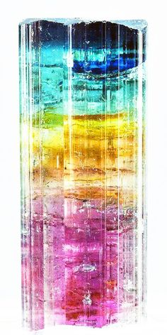 multi-coloured tourmaline,