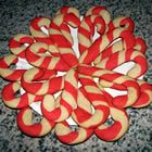 Candy Cane Cookies - flavoured with vanilla and almond, not peppermint (lots of folks don't like mint - go figure).