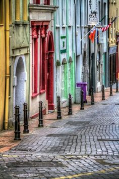 beautiful and colorful street in Waterford, Ireland.A beautiful and colorful street in Waterford, Ireland. Dublin, Oh The Places You'll Go, Places To Travel, Places To Visit, Beautiful World, Beautiful Places, Waterford Ireland, Ireland Travel, British Isles