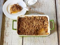 Apple Crisp Recipe : Cooking Channel Recipe | Kelsey Nixon | Cooking Channel  Made this for Caleb's Birthday- Delicious and easy!!