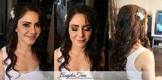 LOS ANGELES BEAUTIFUL BLUSHING BRIDE – BEST LATINA BRIDE WEDDING MAKEUP ARTIST AND HAIR STYLIST >> ANGELA TAM | BRIDAL HAIR CURLS WAVY DOWN DO HALF UP | LOS ANGELES AND ORANGE COUNTY » Angela Tam | Makeup Artist & Hair Stylist Team | Wedding & Portrait Photographer