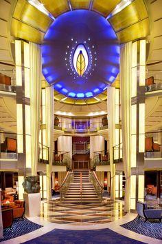 The atrium on Celebrity Solstice.