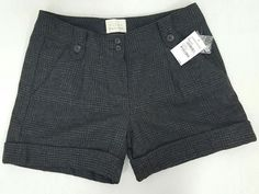 NWT Hinge wool blend lined cuffed black gray plaid shorts work casual womens 4 | Clothing, Shoes & Accessories, Women's Clothing, Shorts | eBay!