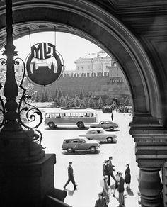 Вид на Красную площадь из Государственного универсального магазина, 1960 год