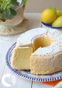 Chiffon cake senza glutine, al limone