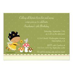 Fairy Birthday Party Fun cute fairy girl's birthday party invitation