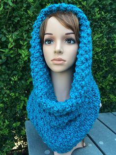 A personal favorite from my Etsy shop https://www.etsy.com/listing/247783949/handmade-knit-scarf-cowl-hood-scarf