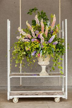 British Flowers Week 2015 Day 4 Design by Jay Archer using British Lupins - Presented to you by New Covent Garden Flower Market