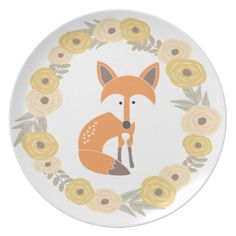 Adorable vector illustration of a fox. #fox #themed #baby #nursery #gift #shower #animal #forest #woodland #cute