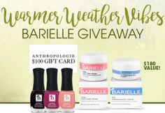 """Barielle """"Warmer Weather Vibes """" Giveaway on http://hunt4freebies.com/sweepstakes"""