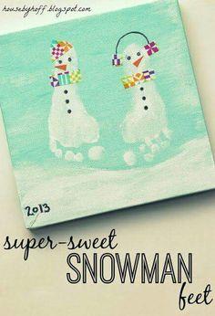 Super Sweet Snowman Feet