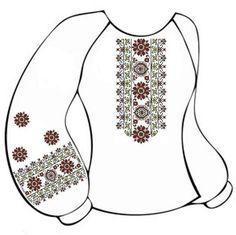 Белая женская вышиванка ВЖПс-009Б