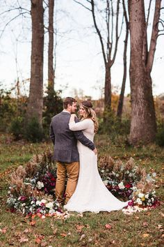 Jewel Tone Fall Wedding Ceremony at a Country Ranch   Soul Child Photography   http://heyweddinglady.com/colorful-bohemian-wedding-fall/