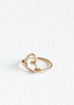 Isn't It Lovely? Ring. Youll have fashionistas wrapped around your finger once you debut this gold ring! #gold #modcloth