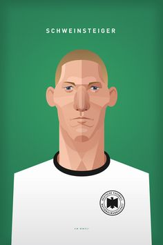 Football Illustrations of the German Euro Cup Team by Daniel Nyari (14 Pictures)
