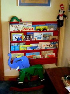 DIY sling shelf on wall @Chelsea Rose would that rocking babar be perf for Naomi???