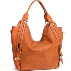 JOYSON Women Handbags Hobo Shoulder Bags Tote PU Leather Handbags Fashion... New #JOYSON #Brown